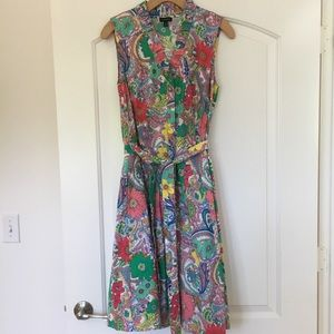 TALBOTS FLORAL PRINT SUMMER DRESS